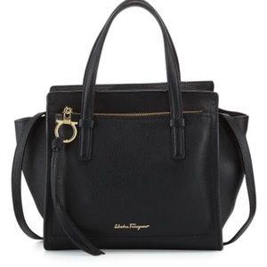 Authentic Nero Salvatore Ferragamo Leather Handbag